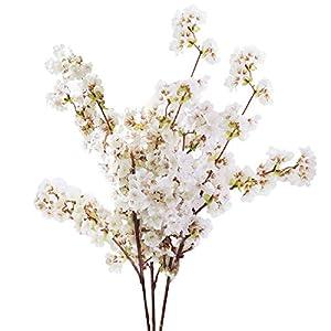 Sunm boutique 2 Pack Plum Blossom Artificial Flowers Simulation Flower Table Decoration Accessories Party Beach Theme Decorations 93