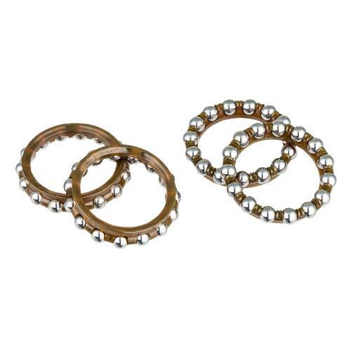 Campagnolo, Steel hub ball bearings, Retainer Bearing, Steel, 4pcs, HB-ZO023