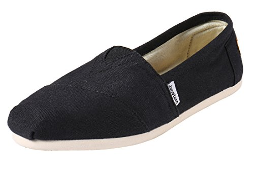Janstom Women's Classic Casual Slip-On Shoes Loafers Black 9.5 B(M)-40