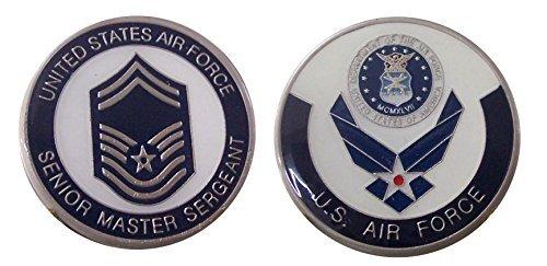 "Air Force ENLISTED RANKS - Senior Master Sergeant ""E8'' Challenge Coin / Logo Poker / Lucky Chip"