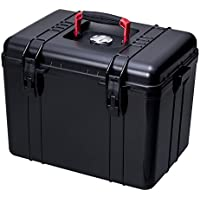 OISHI Never Seen Before. Carrying Dry-Box With Pressure-Resistant Handles (In Addition To Items Associated With Cameras,It Can Be Used To Store Food In Case Of An Emergency) L Black x Red