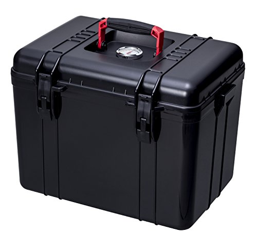 OISHI Never Seen Before. Carrying Dry-Box With Pressure-Resistant Handles (In Addition To Items Associated With Cameras,It Can Be Used To Store Food In Case Of An Emergency) L Black x Red by OISHI