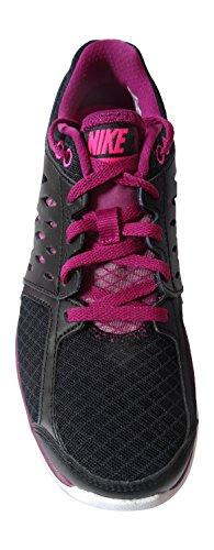nike flex 2013 rn womens running trainers 580440 sneakers shoes (uk 5 us 7.5 eu 38.5, black/pink fl-raspberry red-white 013)