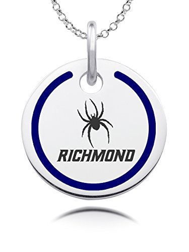 Enamel Spider Charm (Richmond Spiders Round Charm with Color Enamel Border)