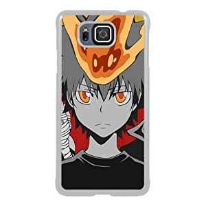 Great Quality Samsung Galaxy Alpha Case ,Anime Katekyo Hitman Reborn GHot Boy Crowd Background White Samsung Galaxy Alpha Cover Case Hot Sale Phone Case Unique And Beatiful Designed