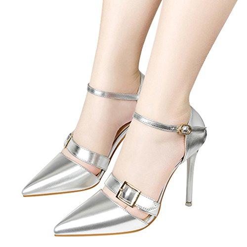 Carissime Donne Del Tempo Avvolgono Sexy Cinturini Metallici Con Cinturino Alla Caviglia Argento