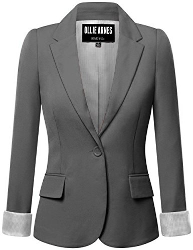 Ollie Arnes Women's Chic Trendy Professional CHARCOAL