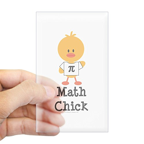 CafePress - Math Chick Rectangle Sticker - Rectangle Bumper Sticker Car (Math Chick)