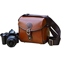 Topixdeals Vintage Look Britpop DSLR Waterproof Camera Bag for Canon Nikon Sony Pentax