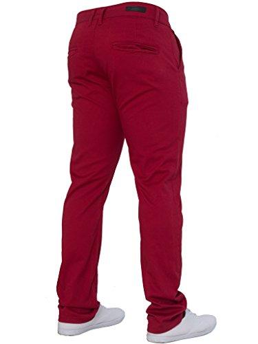 Tutte Elastico Slim Moda Rosso Uomo Jeans Di Taglie Vestibilità Le Enzo Da Aderente Marca Pantaloni qpPPC
