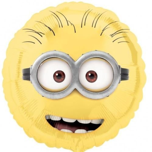 Despicable Me Minions 18 Inch Non Message Minion Face Foil Balloon -
