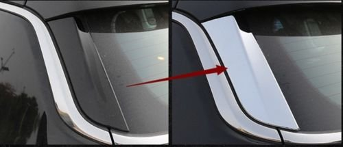 UltaPlay 2pcs Chrome ABS Car Rear Window Trim Cover Stripe Garnish For Jeep Compass 2017 2018 Car Exterior Accessories Styling