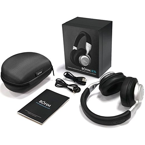 b17b14fff48 BÖHM Wireless Bluetooth Over Ear Cushioned Headphones with Active Noise  Cancelling - B76 by BÖHM (