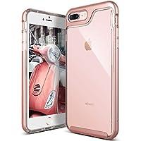 Funda iPhone 7 Plus, Caseología [Serie Skyfall] Cubierta transparente transparente transparente resistente a rayones Protección contra caídas para Apple iPhone 7 Plus (2016) - Oro rosa