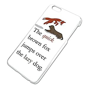 The Quick Brown Fox Jumps Over the Lazy Dog Pangram Slim Fit Hard Case Fits Apple iPhone 6 Plus