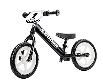 473e398f0fa Strider 12 Pro Super Light Black Pearl Balance Bike for children from 18  months to 5 years.  Amazon.co.uk  Sports   Outdoors