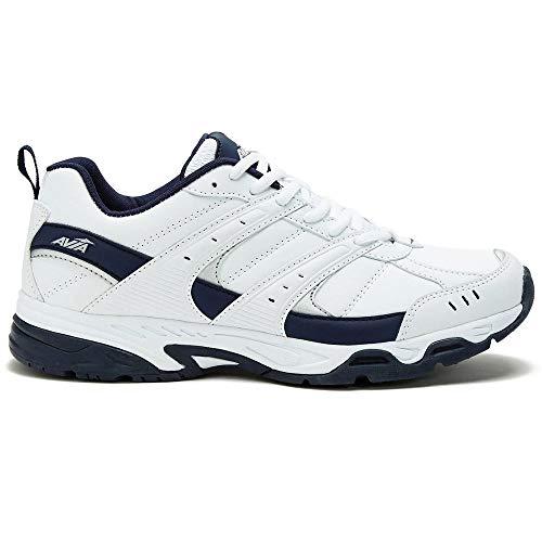 Avia Men's Avi-Verge Sneaker, White/True Navy, 10 Wide US