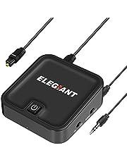 ELEGIANT Bluetooth Audio Adapter 4.1 Transmitter Empfänger 2 in 1 aptX Low Latency Tragbarer Receiver Sender mit 3.5mm Aux Kabel für PC, KFZ, Auto, Lautsprechersystem, Steroanlage und Handy usw