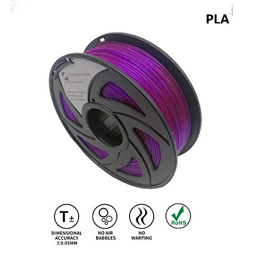 LEE FUNG 1.75mm PLA 3D Printing Filament Dimensional Accuracy +/- 0.05 mm 2.2 LB Spool DIY Material Tools (Transparent Purple) by LEE FUNG