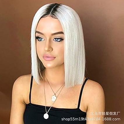 CXQ Europa y América peluca color teñido de gradiente corto ...