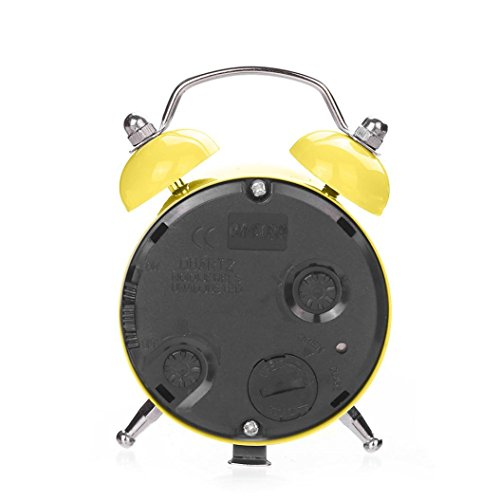 Alarm Clock,CieKen Emoji Emoticon Twin Bell Silent Alloy Stainless Metal Alarm Clock (Pattern D) by CieKen Alarm Clock (Image #2)