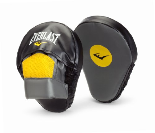 Curved Mitts (Everlast Mantis Mitts Punch Mitts, Gray)