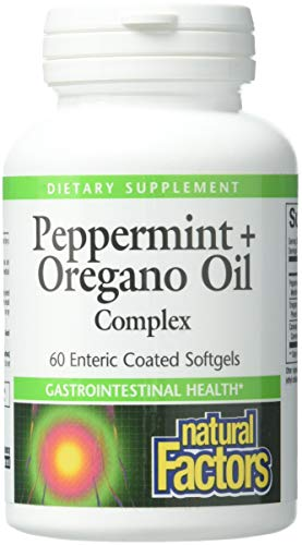 (Natural Factors, Peppermint & Oregano Oil Complex, Digestive Aid for Gastrointestinal Health, 60 softgels (60 servings))