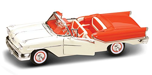 1957 Oldsmobile Super 88 Convertible, Orange & Beige - Yatming 92758 - 1/18 Scale Diecast Model Toy - Oldsmobile 88 Super