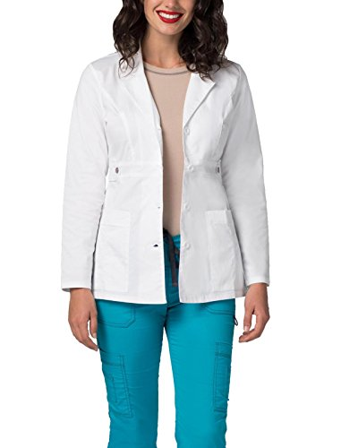 Adar Pop-Stretch Lab Coat for Women – 28″ Tab-Waist Lab Coat