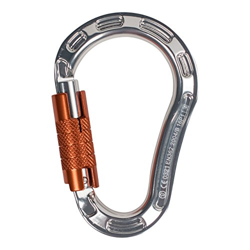 (ProClimb Aluminum Forged Screwgate Lock HMS Carabiner Clip | Quality Heavy Duty 22kN Safety Carabiner with Triple-Lock | Perfect for Industrial Work, Rigging, Rock Climbing )