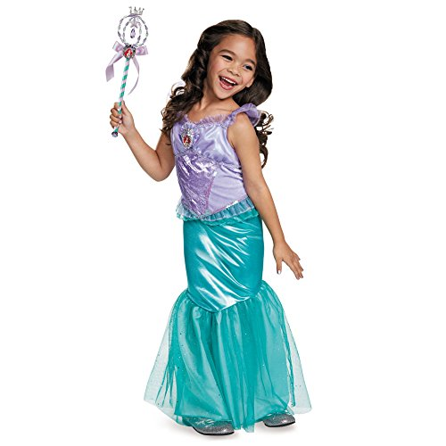 Ariel Deluxe Disney Princess The Little Mermaid Costume, X-Small/3T-4T ()