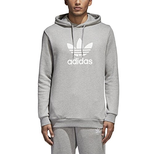 - adidas Originals Men's Trefoil Hoodie Medium Grey Heather 2 Large