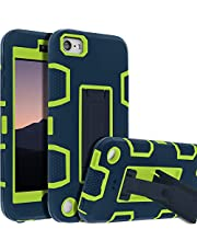 iPod Touch 7th Gen Case,iPod Touch 6th Gen Case,Kickstand Case for iPod Touch,Anti-Scratch Anti-Fingerprint Heavy Duty Protection Shockproof Rugged Cover Apple iPod Touch 2019,Blue