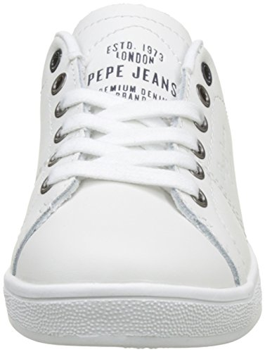 Pepe Jeans London Brompton Basic, Zapatillas Para Niños Blanco (White)