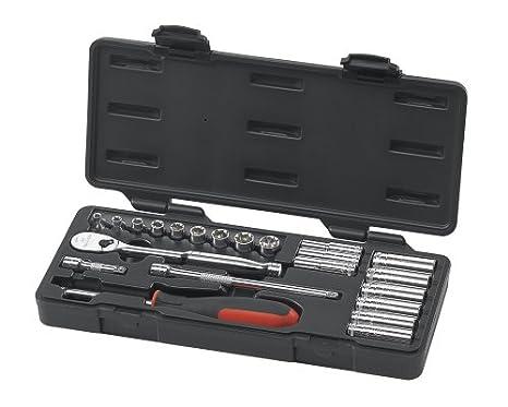1//4 Drive 12 Point Standard /& Deep SAE//Metric Mechanics Tool Set GEARWRENCH 51 Pc 80301