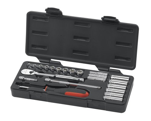 GEARWRENCH 80327 22 Piece 1/4-Inch Drive Metric Socket Set (Standard/Deep)