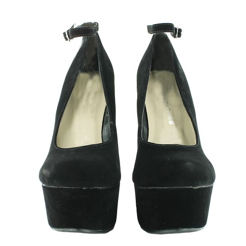 Footwear Sensation - Zapatos de vestir de sintético para mujer negro - negro