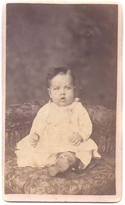 Amazon Com Cdv Photo Of Baby In White Dress In Corner