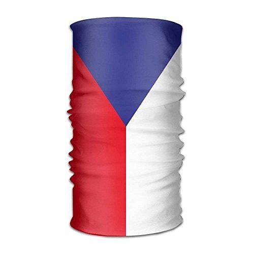 Omkiwn Flag Of Czech Republic Multifunctional Bandana Elastic Turban Headwear Headscarf