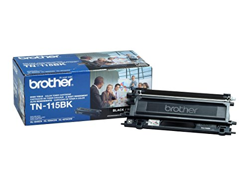 Brother TN-115BK High Yield Black Toner Cartridge for Brother HL4040CN,HL4070CDW ()