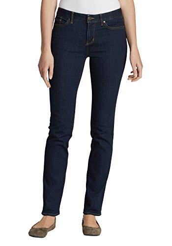 Eddie Bauer Damen StayShape Jeans - Straight Leg - Curvy Deep Rinse PaBHYLWutY