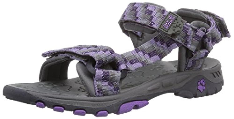 Jack Wolfskin Kids Seven Seas, Unisex Children's Athletic and Outdoor Sandals, Grey (Dark Steel 6032), 1UK(33 EU)