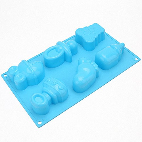 - MoldFun Baby Shower Baby Feet Carriage Feeding Bottle Pacifier Silicone Mold for Baking, Pretzel, Cake Top Fondant Decorating, Jello, Mint, Chocolate, Ice Cube, Gelatin, Soap, Bath Bomb