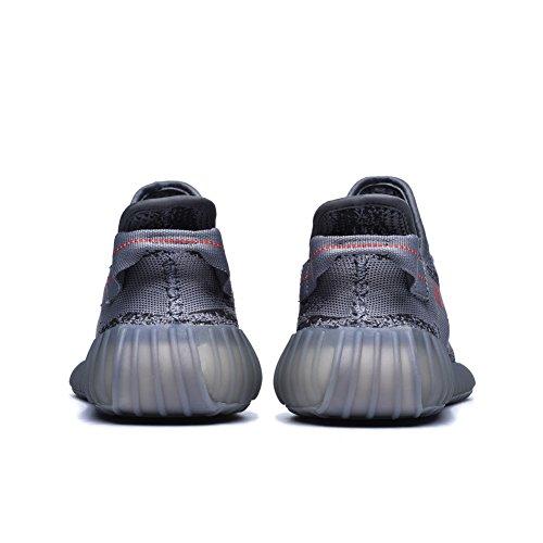 Leeng Herren Damen Atmungsaktive Mesh 350 V2 Sport Sneakers Graue Farbe1
