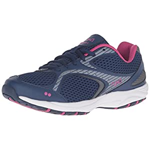 RYKA Women's Dash 2 Walking Shoe, Navy/Grey/Purple, 6.5 M US