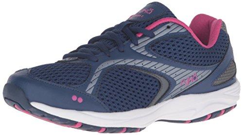 Ryka Women's Dash 2 Walking Shoe, Navy/Grey/Purple, 9 M US