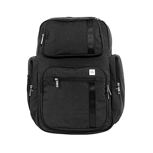 Ring Onyx Dad (JuJuBe Vector Active Backpack/Diaper Dad Bag, XY Collection - Carbon)