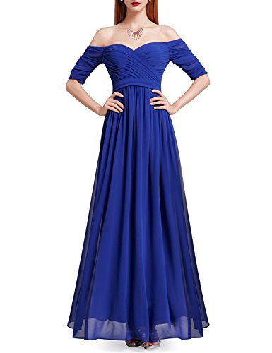 de paule Pretty Saphir lgante en Blue Ever Soire Robe 07411 Dgage Ruche Empire 0U4q4