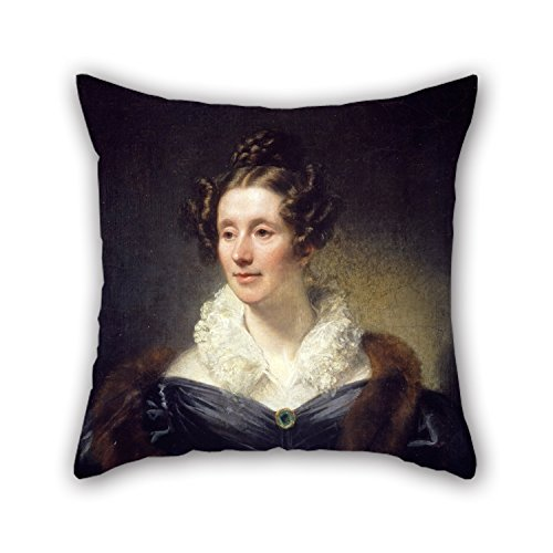Oil Painting Thomas Phillips - Mary Fairfax, Mrs William Somerville, 1780 - 1872. Writer On Science Pillow Cases 16 X 16 Inches / 40 By 40 Cm Gift Or Decor For Indoor,bf,father,shop