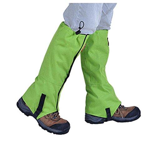Sneeuw Legging Slobkousen, Inkach Outdoor Wandel Beenkappen Beenkap Laars Legging Wrap Waterdichte Schoenen Beenkappen Set Groen